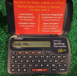 Franklin NCS-101 Webster's Spelling Corrector Plus